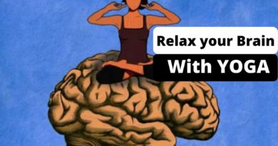 Brain relax with yoga