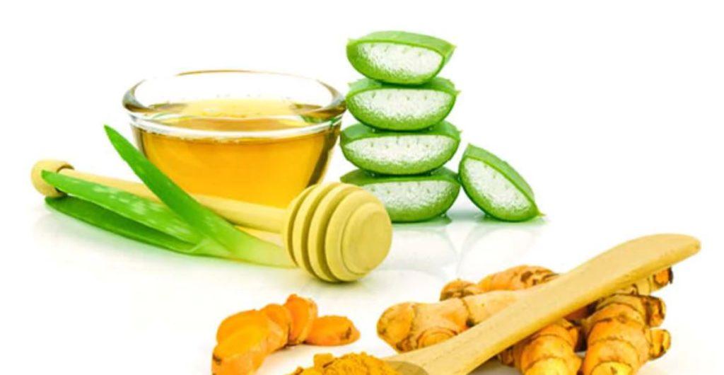Aloe vera, lemon and glycerin