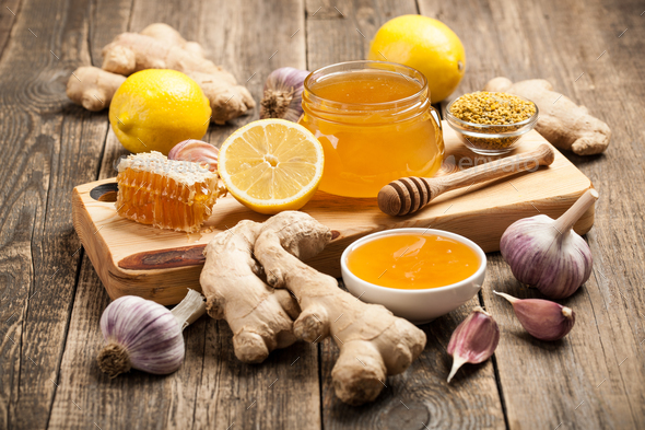 Ginger, garlic and honey